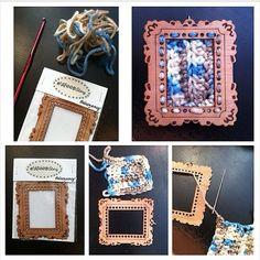 ewoodstory #crochet frame