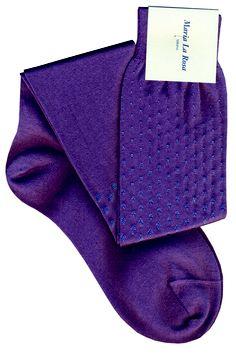 Knee socks with pois. 75% cotton 25% silk