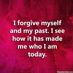 I'm trying to forgive myself but it is more difficult than forgiving other's.