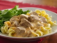 Slow Cooker Beef Stroganoff - Sweet Treat Eats