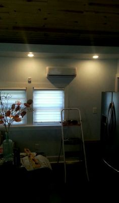 Installation of indoor air exchanger. Pioneer Mini split 9,000 btu air conditioner.