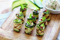 Antipasti: Zucchiniröllchen mit Thunfischcreme
