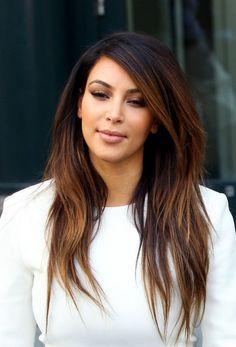 Kim Kardashian Ombre Hair,  Go To www.likegossip.com to get more Gossip News!