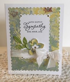 Good morning friends   Today I have a couple of sympathy cards to share ... unfortunately my Mom is finding a need for them so I made a cou...