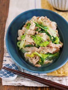 ご飯もお酒もモリモリすすむ♪『豚バラと白菜の塩バター蒸し』 : 作り置き&スピードおかず de おうちバル 〜yuu's stylish bar〜
