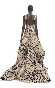 Brocade Sweetheart Evening Gown by ZAC POSEN for Preorder on Moda Operandi