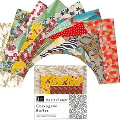 "With so many beautiful Japanese Chiyogami papers to choose from, it is almost impossible to decide on just a few for your project.  Now you don't have to with the Chiyogami Buffet Scrap Pack! This fun collection of sample-size Washi paper contains 45 sheets of stunning chiyogami papers each with unique design! With 15 sheets of each size (5""x5"", 4""x4"" and 3""x3""), you will have a outstanding array of hand-silkscreened Japanese paper perfect for any and every project!"