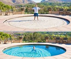 underground pool with slide | pool and yard designs | pinterest