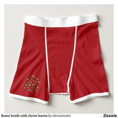 Boxer briefs with clover leaves
