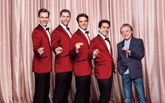 The cast on the Jersey Boys with Frankie Valli himself!