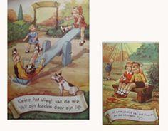 """""""Af en toe gaan pa en moe  met ons naar de speeltuin toe.  dat is voor ons kinderen het fijnste wat bestaat  't is een eind bij ons vand..."""