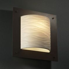 Justice Design Group Porcelina Framed 1 Light Wall Sconce Impression: