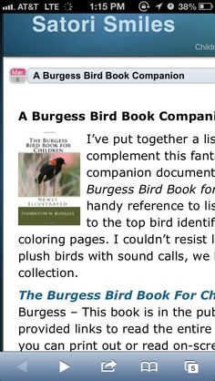 The Burgess Bird Book For Children From Curriculum Choice