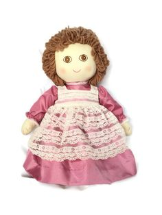 """Vintage Handmade Rag Doll, 19"""" Tall with Proverb 3: 5.6 and God Loves You Tags"""