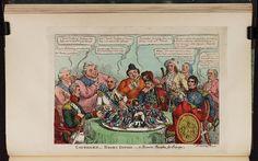 10 November 1813.Bodleian Libraries, Caterer's Boney dish'd a bonne bouche for Europe.Caricature of Napoleon I.(British political cartoon)