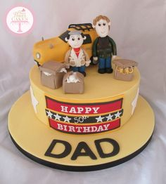 Only fools & horses cake Disney Castle Cake, Disney Cakes, Castle Cakes, Paul Cakes, Horse Cupcake, Motorcycle Cake, First Communion Cakes, Only Fools And Horses, Happy Birthday Dad