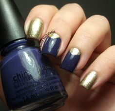 The Clockwise Nail Polish: China Glaze Queen B & Realce Champagne