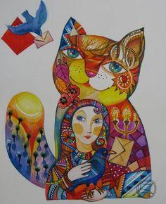 PIGEON VOYAGEUR - Painting,  24x30 cm ©2008 von Oxana Zaika -  Malerei