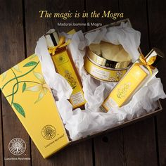 Tone your skin and uplift your mood with one special ingredient – Mogra! Check out Forest Essentials' organic and pure products!