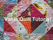Simple scrappy quilt design based on color value of your fabrics