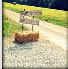 Country wedding Signage