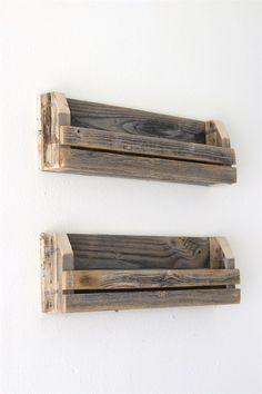"""24"""" Slatted Shelves   Set of Two   Jane"""