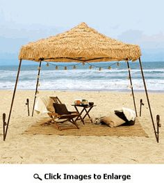 Quick Shade Tiki Hut  10 x 10 Instant Pop  sc 1 st  Pinterest & Tiki hut constructed from a backyard canopy tent authentic thatch ...