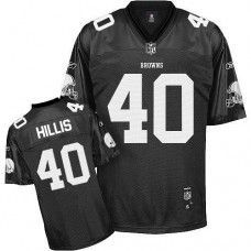 Browns  40 Peyton Hillis Black Shadow Stitched NFL Jersey 3295d05961e