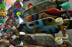 We are your Sector 9 headquarters! Stop by our shop to choose from our HUGE selection of longboards. Whether you're looking for a cruiser for the morning commute, a boardwalk slasher, or a micro-hill bomber, we have the board that is right for you!!