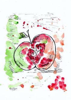 I Love Apple by Mrs wilkes  original +Free P&P