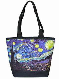 Van Gogh Starry Night Art Tote Bag