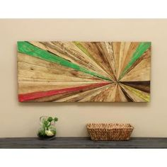 New Modern Chic Sculpture Abstract Hanging Reclaimed Wood Art Wall Home Decor