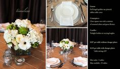 Timeless is just one of the many options of Pre Designed packages available at www.StageRightRentals.com. Priced per table including delivery ( within Kelowna) , set up and take down! Serving the Okanagan Valley.