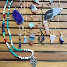 Some of @soulfultreasures.co gorgeous pieces 🙌 Shop 50% OFF  www.soulfultreasures.co Checkout Code: Happy50  #jewlery #turquoise #accessories #girls #love #beauty #fashion #instablog #shop #handmade #hamsa #necklace #crystal #crystals #hippie #hippies #h Hamsa Necklace, Beaded Necklace, Necklaces, Imelda May, Turquoise Accessories, 50s Vintage, Hippie Style, Jewerly, Boho Chic