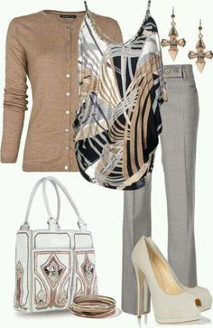 80 Elegant Work Outfit Ideas in 2017 - Are you looking for catchy and elegant wo. 80 Elegant Work Outfit Ideas in 2017 - Are you looking for catchy and elegant work outfits? We all know that there are several factors which control u. Komplette Outfits, Cardigan Outfits, Casual Outfits, Fashion Outfits, Outfits With Gray Pants, Pants Outfit, Kimono Outfit, Woman Outfits, Dress Casual