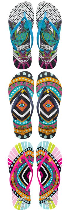 Looking For Summer? Walk This Way! -  Because a Mara Hoffman swimsuit's too fun to pair with any old sandals, the beachy brand has teamed up with Havaianas for some of the most colorful flip-flops ever ($44).