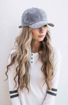 grey suede baseball cap