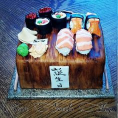 View posts from Bethenny's Food archive Sushi Cake, Fancy Cakes, Cupcake Cakes, Cupcakes, Food For Thought, Yummy Cakes, Cake Designs, Just Desserts, Amazing Cakes