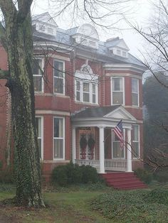 Home in the fog, Chase City, Va c turn of the 20th century.