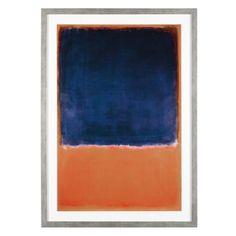 Rothko - Orange Blue from Z Gallerie