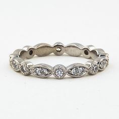 Briliant Earth tiara eternity ring. great alternative to the Tiffany swing eternity at less than half the cost, plus this one has milgrain detail. 18K $1250 #brilliantearth