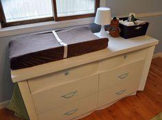 Changing Table Dresser Topper - Home Furniture Design Best Changing Table, Changing Table Dresser, Baby Changing Pad, Best Dresser, Pink Dresser, Dresser Top, Shared Baby Rooms, Home Furniture, Furniture Design