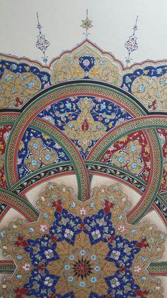 Detay Islamic Art Pattern, Pattern Art, Arabesque, Paisley Art, Illumination Art, Islamic Paintings, Art Japonais, Iranian Art, Geometry Art