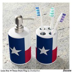 Lone Star ★ Texas State Flag Soap Dispenser