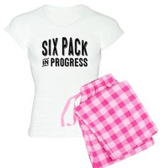 Six Pack in Progress Women's Light Pajamas