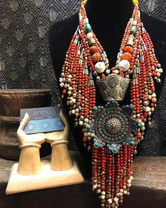 Necklace that will steal your heart away........❤️❤️❤️❤️  Please dm us for price enquires   #store #boutique #houston #texas #statementnecklace #coral #turquoise #handmade #bohemian #tassels #stone #bold #beautiful #chic #ethnic #diva #divine #different #newarrivals #grabitfast #oneofakind #women #style #fashion #shopaholic #beads #streetstyle #vogue #designer #trendsetter