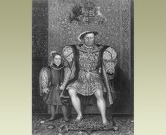 Henry VIII with his son Edward, whose mother was Henry's third wife, Jane Seymour.