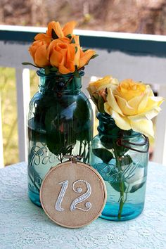 Custom Embroidered Table Numbers - Wedding/Event