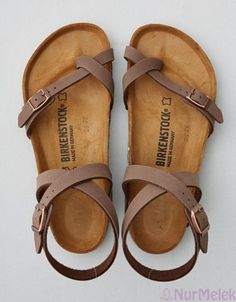 Shop Women's Birkenstock Cream Tan size 8 Sandals at a discounted price at Poshmark. Description: Light Brown Yara Birkenstock's Size 38 Excellent Used Condition! Only worn twice. Cute Sandals, Strappy Sandals, Cute Shoes, Women's Shoes, Me Too Shoes, Shoe Boots, Summer Sandals, Women Sandals, Brown Sandals
