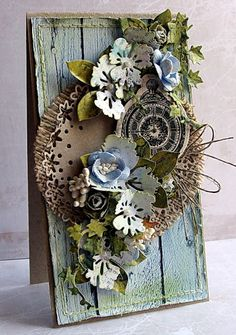 lovely flowers, great colors... the burlap looks great in the background
